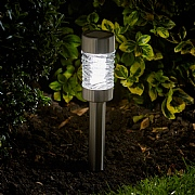 Smart Solar Martini Nickel Stake Light