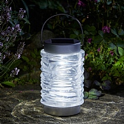 Smart Solar Wave Stainless Steel Lantern