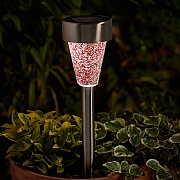 Smart Solar Mosaic Stainless Steel Stake Light