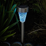 Smart Solar Majestic Nickel Stake Light
