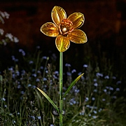 Smart Solar Glass Daffodil Flower Stake Light
