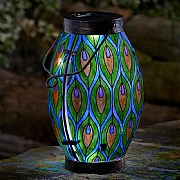 Smart Solar Peacock Solar Flickering Lantern