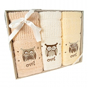 3 Pack Owls Tea Towels