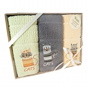 3 Pack Cats Tea Towels