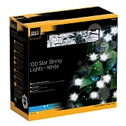 Cole & Bright Dual Powered Solar 100 Star String Lights - White
