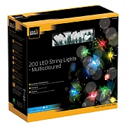 Cole & Bright Dual Powered Solar 200 LED String Lights - Multicoloured