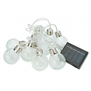 Cole & Bright 10 Dual Power Ice Orb String Lights