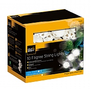 Cole & Bright Dual Powered Solar 10 Filigree String Lights - Warm White