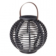 Cole & Bright Rattan Solar Powered Candle Lantern