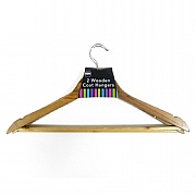 Wooden Coat Hangers Pack of 2
