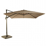 Bramblecrest Chichester 3m Square Parasol with Granite Quadrant Base