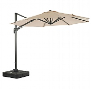 Bramblecrest Chichester 3.5m Round Parasol with Sand Fill Base