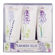 Heathcote & Ivory Lavender Fields Hand Cream Gift Set 3x30ml