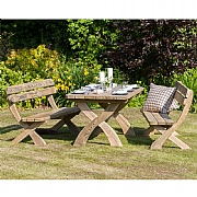 Zest 4 Leisure Harriet Table & 2 Bench Set