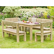Zest 4 Leisure Philippa Table & Bench Set