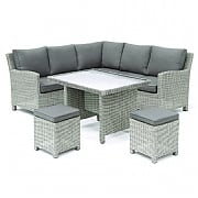 Kettler Palma Mini Casual Dining Set White Wash (Glass Top)