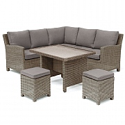 Kettler Palma Mini Casual Dining Set Rattan (Glass Top)