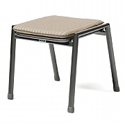 Kettler Novero Stool / Side Table with Truffle Cushion