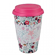 Cambridge Poppy Flowers Bamboo Eco Travel Mug