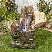 Kelkay Playful Otters Water Feature with LED Lights