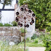 Smart Garden Venti Wind Spinner & LED Solar Crackle Globe Light