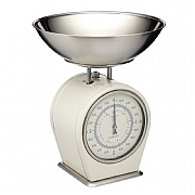 Living Nostalgia Mechanical Kitchen Scales - Antique Cream
