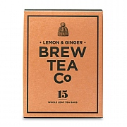 Brew Tea Company Lemon & Ginger 15 Whole Leaf Tea Bags