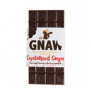Gnaw Crystallised Ginger Dark Chocolate Bar 100g