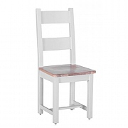 Besp-Oak Chalked Oak & Light Grey Horizontal Slats Dining Chair
