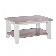 Besp-Oak Chalked Oak & Light Grey Rectangular Coffee Table