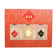 Wax Lyrical Love, Peace & Joy Mini Reed Diffuser Gift Set 3 x 50ml