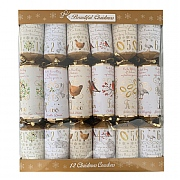 Beautiful Christmas Twelve Days Of Christmas Christmas Crackers - 12 Pack