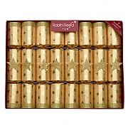 "Robin Reed Golden Magic 10"" Christmas Crackers Pack of 8"