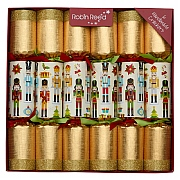 "Robin Reed Traditional Nutcracker 12"" Christmas Crackers Pack of 6"