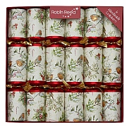 "Robin Reed Woodland Robin 12"" Christmas Crackers Pack of 6"