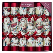 "Robin Reed Victorian Santa 12"" Christmas Crackers Pack of 6"
