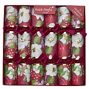 "Robin Reed Rich Floral 12"" Christmas Crackers Pack of 6"