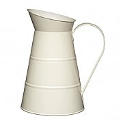 Living Nostalgia Large Metal Water Jug 2.3L - Antique Cream