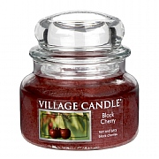 Village Candle Black Cherry Small 11oz Jar Candle