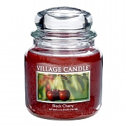 Village Candle Black Cherry Medium 16oz Jar Candle