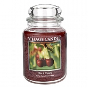 Village Candle Black Cherry Large 26oz Jar Candle