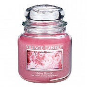 Village Candle Cherry Blossom Medium 16oz Jar Candle