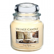 Village Candle Cozy Home Medium 16oz Jar Candle