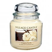 Village Candle Creamy Vanilla Medium 16oz Jar Candle