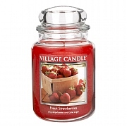 Village Candle Fresh Strawberries Large 26oz Jar Candle