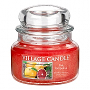 Village Candle Pink Grapefruit Small 11oz Jar Candle