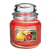 Village Candle Pink Grapefruit Medium 16oz Jar Candle