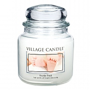 Village Candle Powder Fresh Medium 16oz Jar Candle