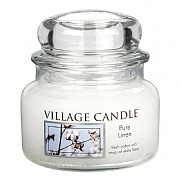 Village Candle Pure Linen Small 11oz Jar Candle