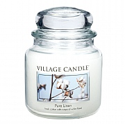 Village Candle Pure Linen Medium 16oz Jar Candle